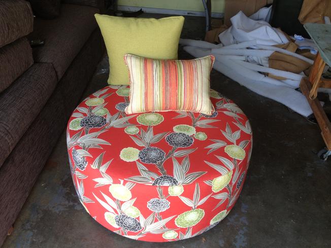 Custom Upholstery - Ottoman from Nerang